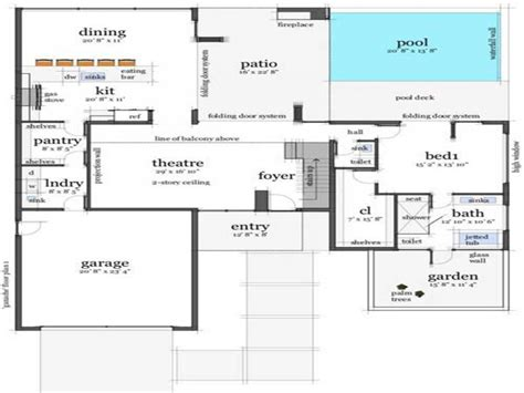 contemporary one house plans modern house floor plans modern house plans
