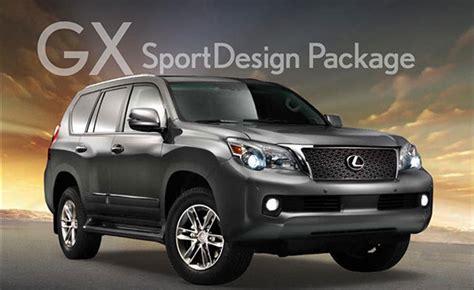 lexus gx  sportdesign package released autoguide