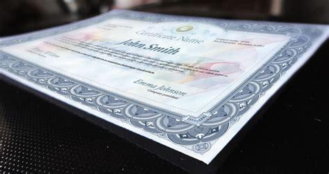 Mock Certificate Template