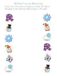 winter worksheets  images preschool winter