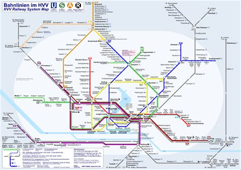 hamburg  bahn map metroeasycom