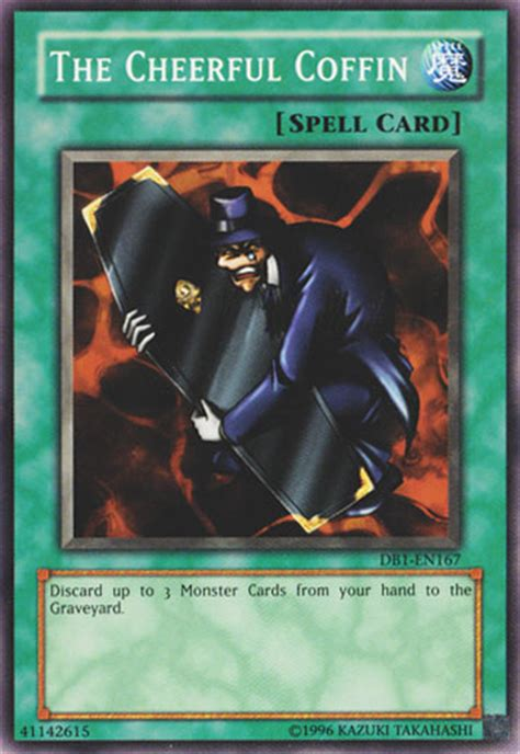 Only 18 special edition cards were given out, to begin with, but more were released at events around the world. The Cheerful Coffin   Yu-Gi-Oh!   FANDOM powered by Wikia