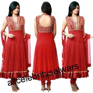 designer less all salwars in color anarkali dress with sleev less designer handsand