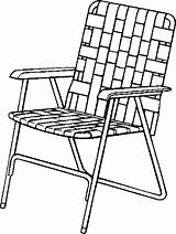 Chair Coloring Drawing Lawn Pages Folding Beach Clipart Patio Chairs Clip Lawnchair Furniture Line Outdoor Armchair Cliparts Clipartmag Library Printable sketch template