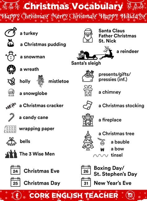 Christmas Vocabulary Words In Picture  Myenglishteachereu Blog