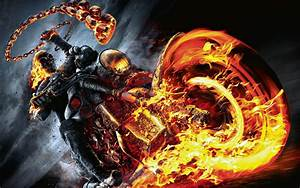Movies ghost rider motorcycle fire wallpaper | 3840x2400 ...