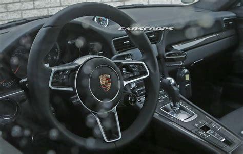 porsche inside facelifted 2016 porsche 911 s interior spied undisguised