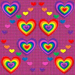 hearts and kitchen collection rainbow hearts pattern free wallpaper