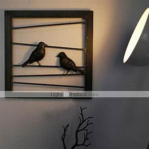 E home? metal wall art decor black birds
