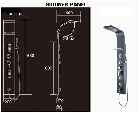 fontana shower panel installation instructions