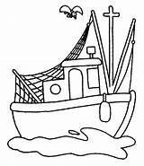 Boat Coloring Fishing Pages Cartoon Clipart Row Drawing Printable Colouring Boats Bass Fish Traditional Ship Steamboat Clip Kidsplaycolor Play Print sketch template