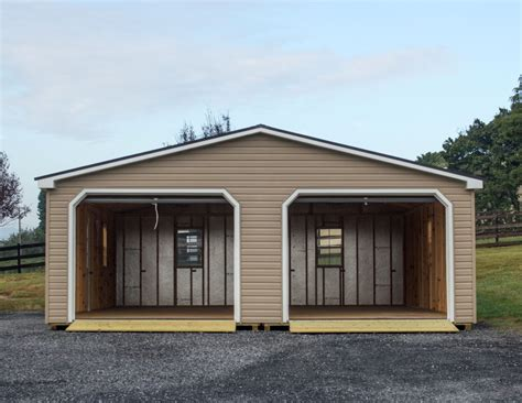 modular homes with garages 24x30 modular 2 car garage wide garage byler barns