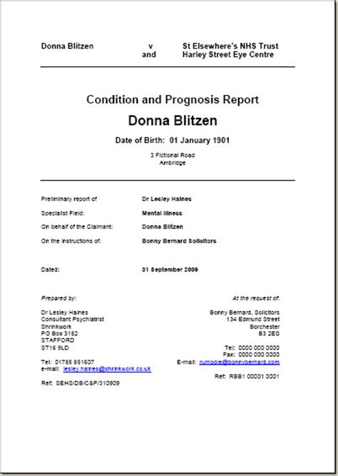 28 expert witness report template 11 letter of