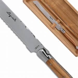 Couteau à Bois : couteau pain laguiole en bois d 39 olivier avec des mitres ~ Edinachiropracticcenter.com Idées de Décoration