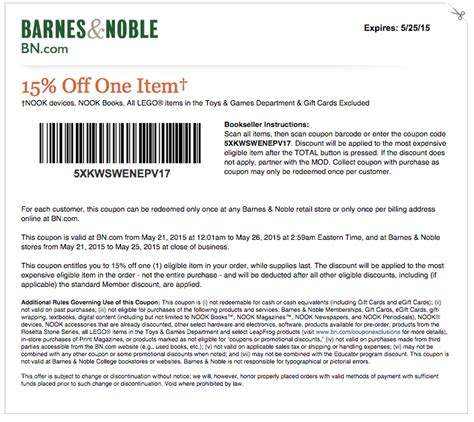 coupons for barnes and noble barnes and noble coupons printable and codes