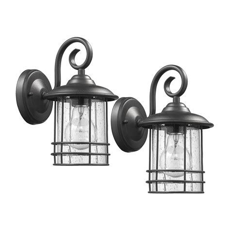 lighting ch22055 2 pack single light black outdoor