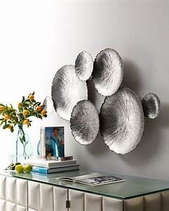 Ares silver tone wall decor