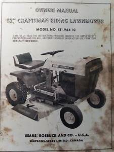 Sears 32 U0026quot  Craftsman 7hp Riding Lawn Tractor Mower Owner