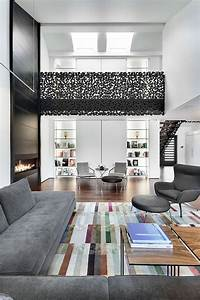 classy contemporary residence with cool accents of grey With interior decor montreal
