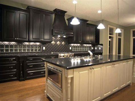 secret to create distressed black kitchen cabinets