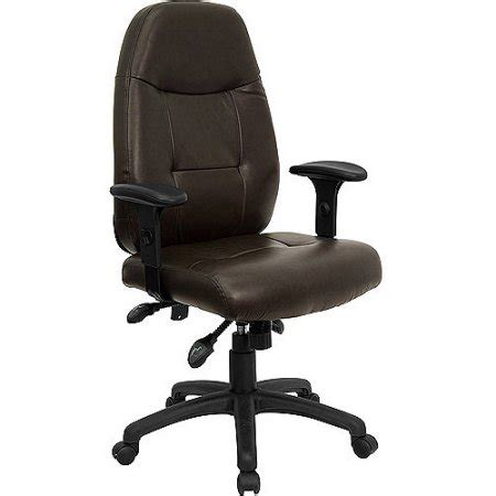 leather executive high back office chair with built in