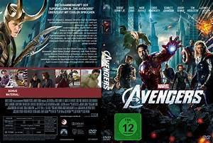 The Avengers dvd cover & label (2012) R2 German Custom
