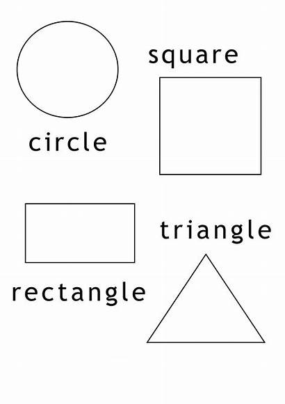 Shapes Coloring Pages Worksheets Shape Printable Geometric