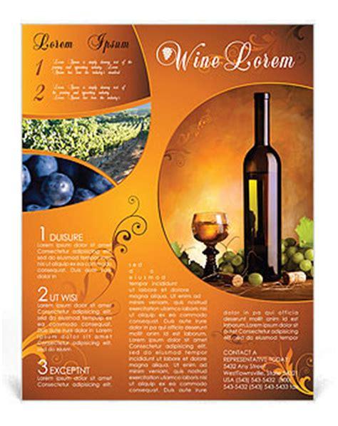 wine flyer template design id