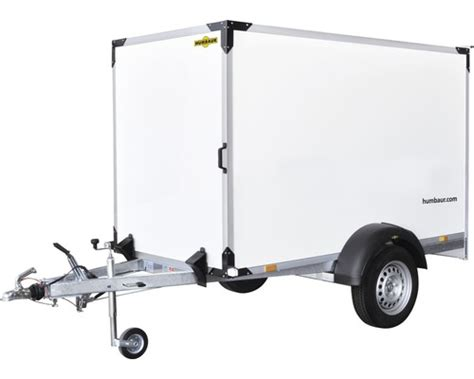 Pkw-anhänger Kofferanhänger Humbaur Trolly 1300 Mit Radstoßdämpfern 1300 Kg Serie