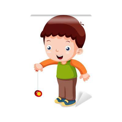 imagenes de ni 241 os jugando yoyo fotomural ilustraci 243 n de dibujos animados ni 241 os jugando yo