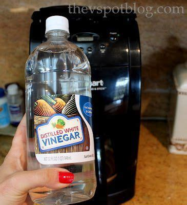 Do it twice to further ensure that no lingering vinegar smell is left. Clean your coffee maker using vinegar.   Coffee maker cleaning, Coffee pot cleaning, Cleaning