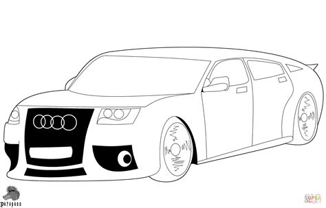 audi car coloring page  printable coloring pages