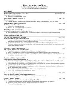 resume objective for teach for america resume mudd