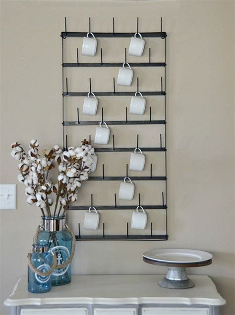 wall cup rack best 25 mug wall rack ideas on coffee mug