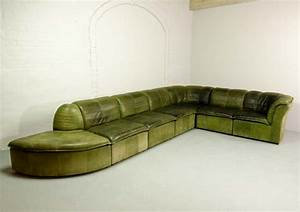 7 elements modular patchwork sofa by laauser in olive With olive green sectional sofa