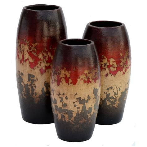 Camino Red Vases   Set of 3