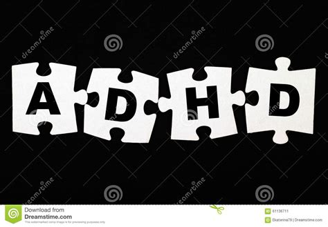 adhd puzzle stock photo image