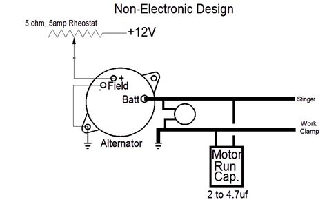 Stick Welder Wiring Diagram by Non Electronic For Alternator Based Welders