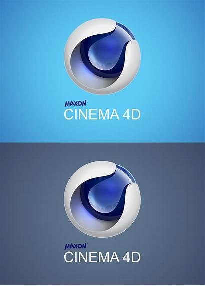 3d 4d Cinema C4d Illustrator Logos Redesign