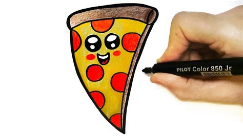 How To Draw A Pizza  Dibujar Pizza Youtube