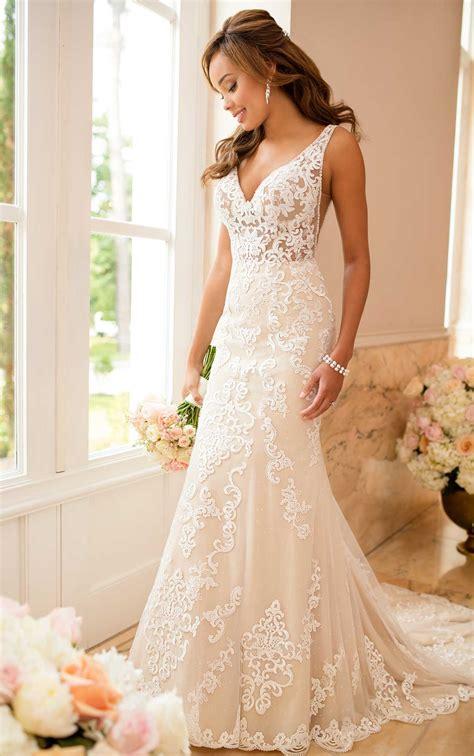 lace wedding dress  sheer cutouts stella york