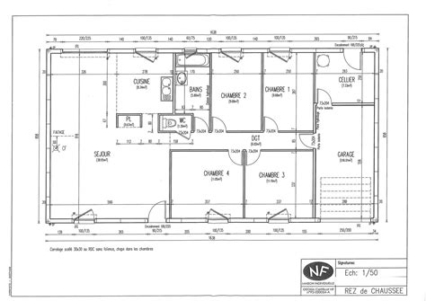 plans maisons plain pied 3 chambres plans maisons phenix