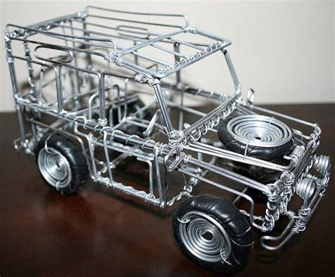 Wire Car by Brinquedos Africanos Feitos Ferro Velho 171 De