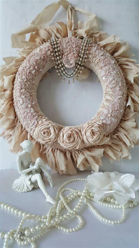 shabby chic wreaths shabby chic rag wreath wreath fabric wreath country chic