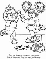 Coloring Cabbage Patch Colouring Sheets Children Gap Printable Among Dolls Stuff Draw Adults sketch template