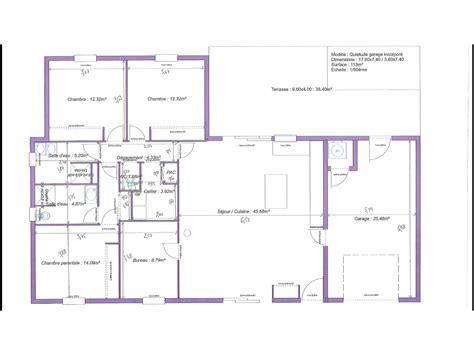 plan maison 1 chambre plan maison plain pied 3 chambres 1 bureau evtod