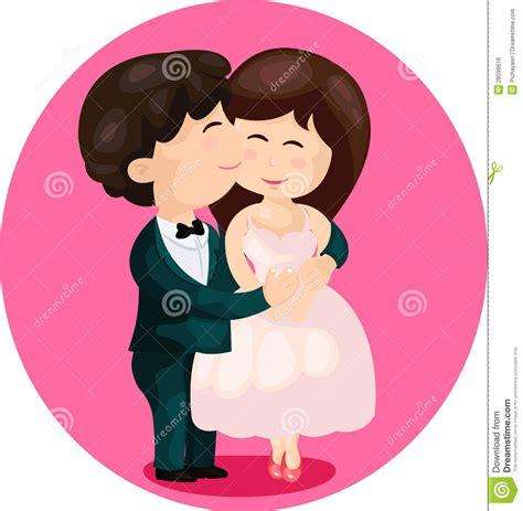 cartoon cute couple kissing royalty  stock image