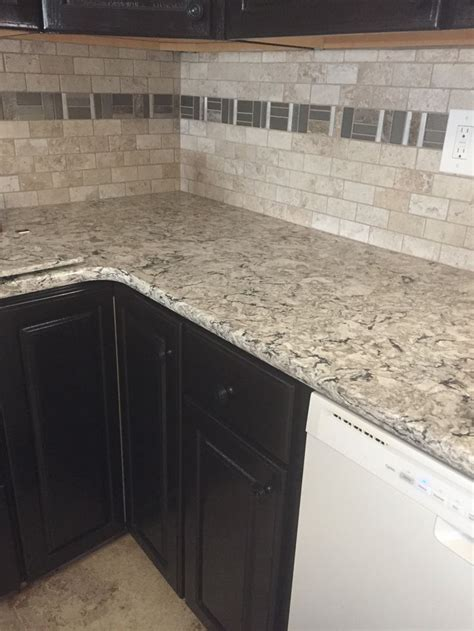 mosaic tile kitchen countertop diy finished backsplash with 2x4 montazna collection 7866