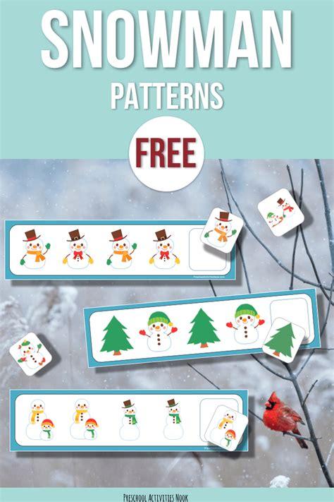 free preschool game free snowman patterns preschool activities nook 486