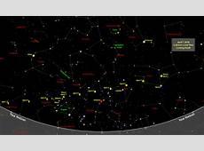 Sky Map Star Chart April 2018 Old Farmer's Almanac